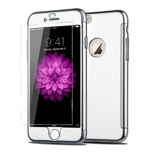 JOYROOM Beetles Series + Tempered Glass Skal till iPhone 6   6S - Silver f164a481f305f