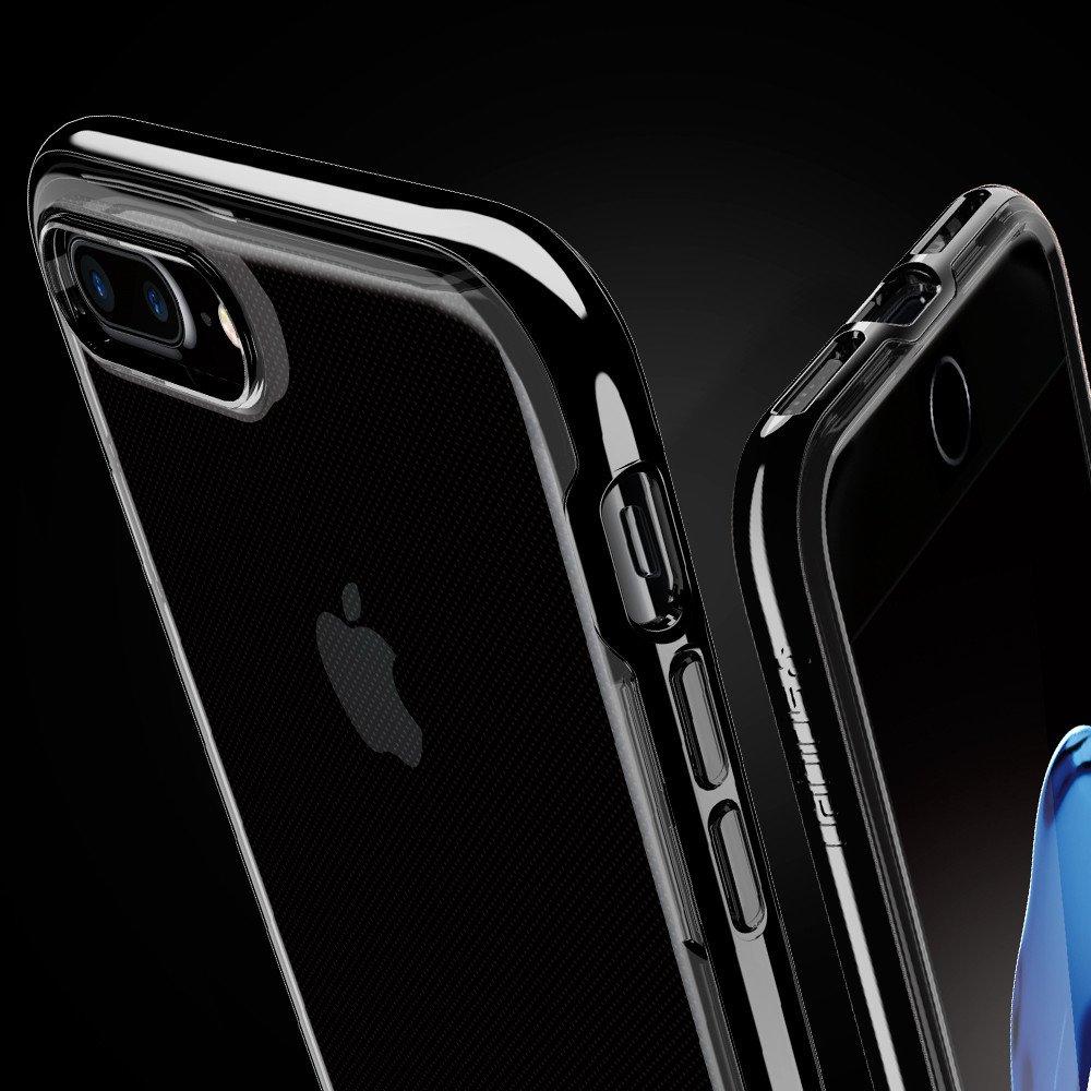 SPIGEN Neo Hybrid Crystal Skal till Apple iPhone 7 Plus - Jet Black ... b80eb7cdff5bc