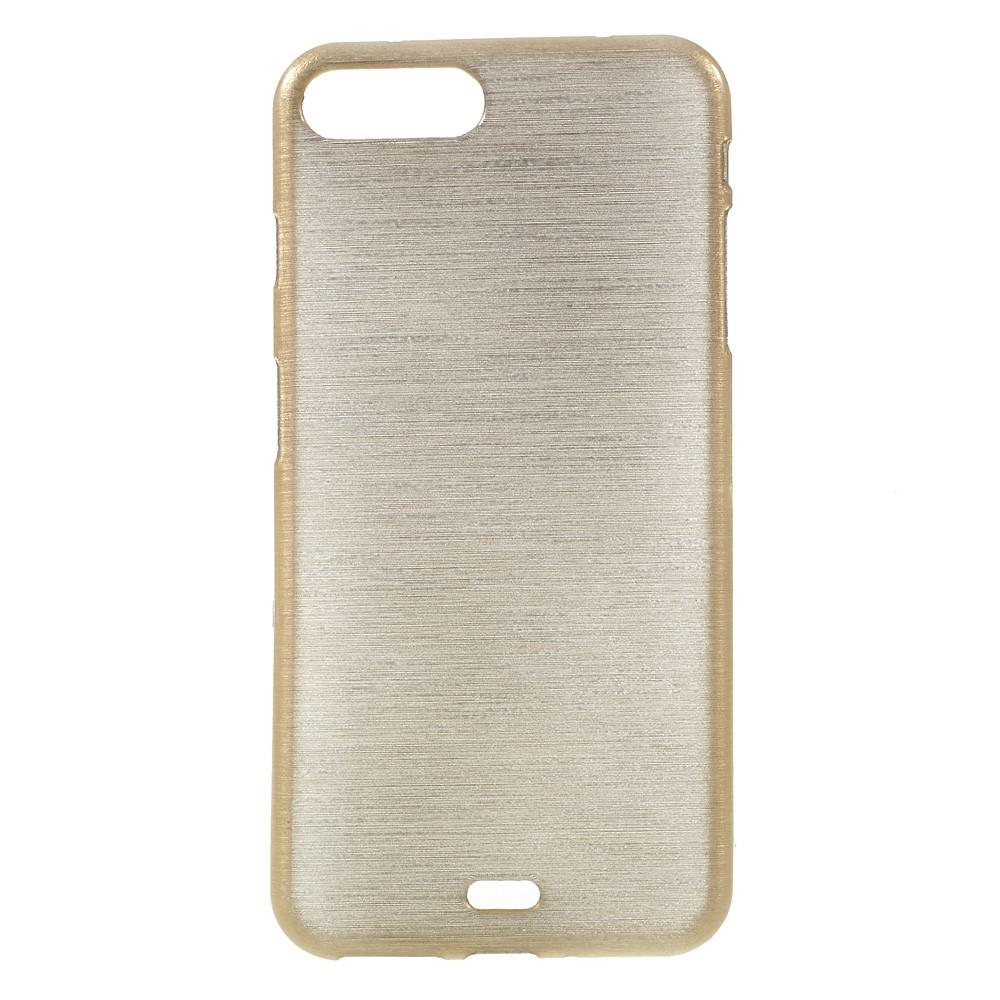 Glossy Brushed Mobilskal till iPhone 7 Plus - Guld
