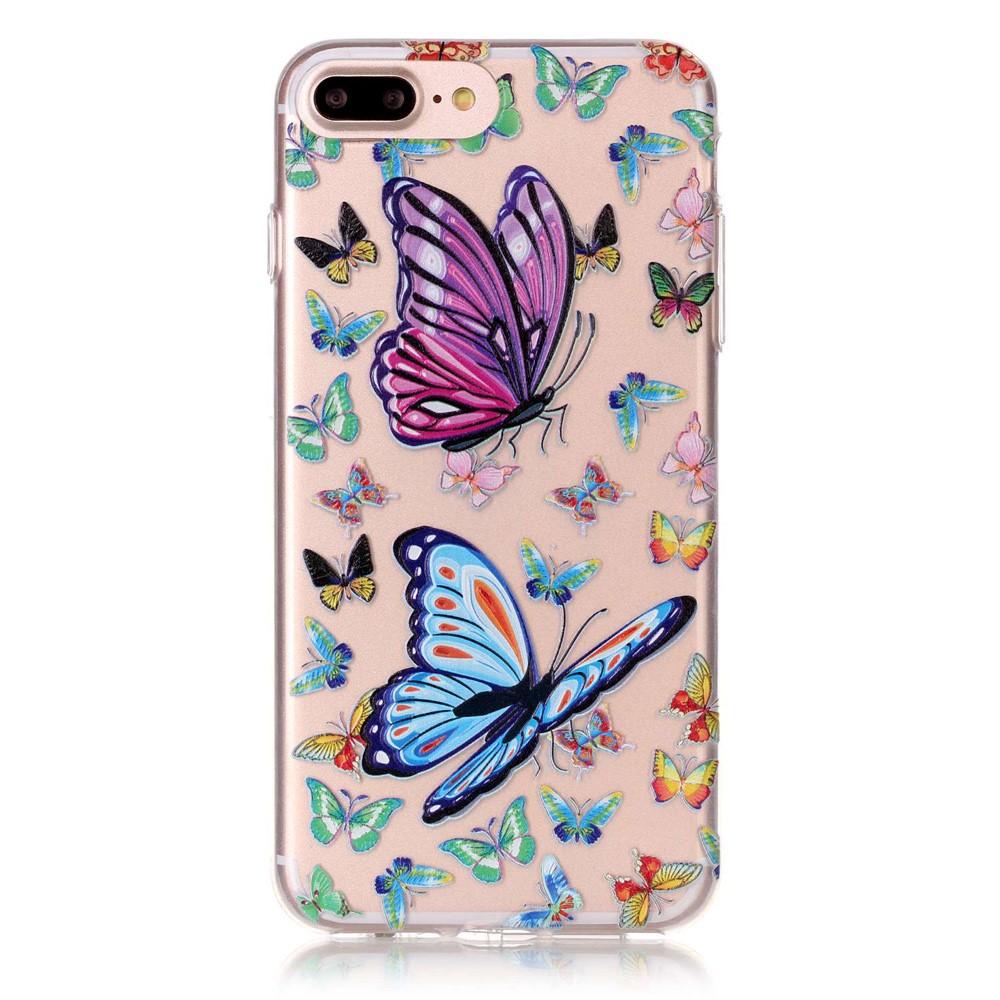 TPU Mobilskal till iPhone 7 Plus - Fjärilar