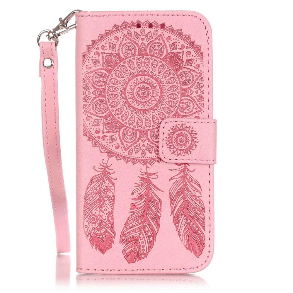 Plånboksfodral till iPhone 8 7 - Rosa Drömfångare - TheMobileStore 4b9fb4dc3bcf8