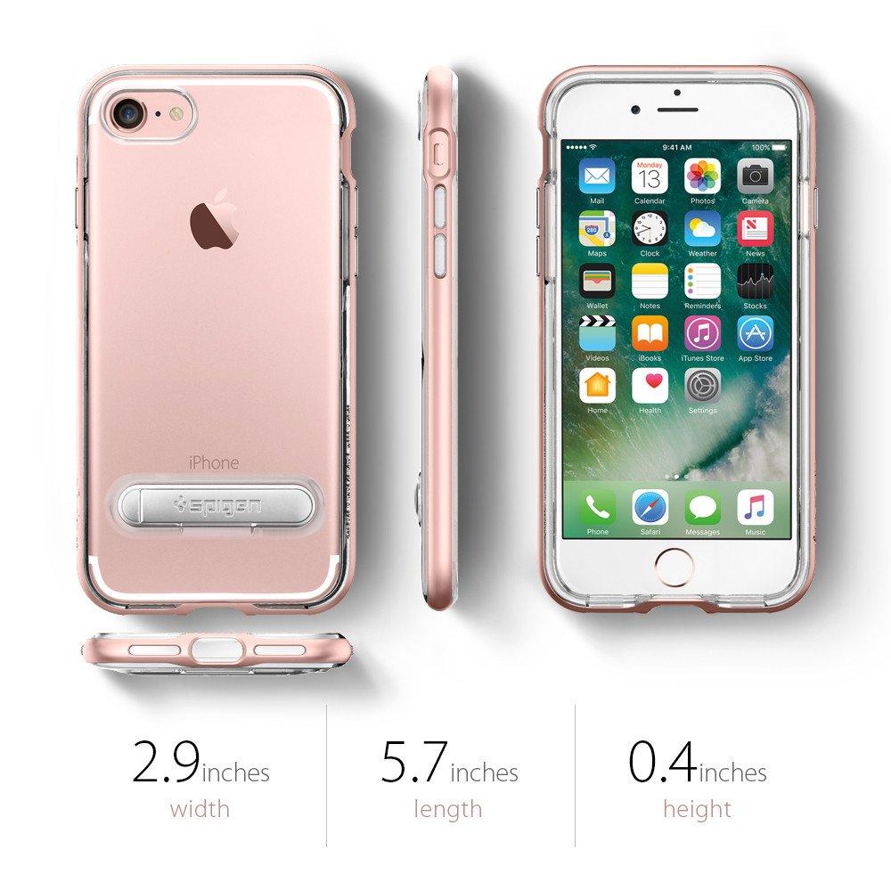 SPIGEN Crystal Hybrid Skal till Apple iPhone 8 7 - Svart ... d9b8cbf0853eb