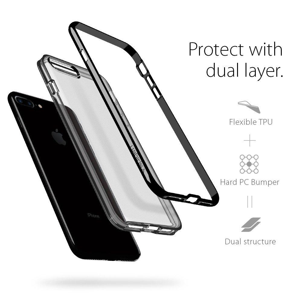SPIGEN Neo Hybrid Crystal Skal till Apple iPhone 8 7 - Jet Black ... 30b6db30468cf