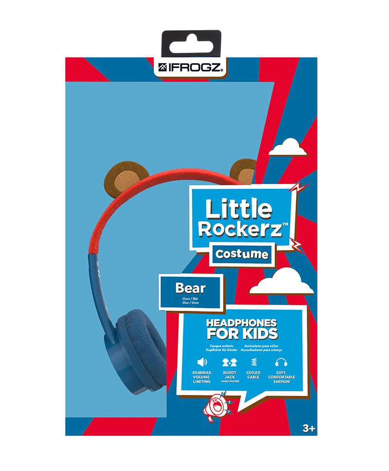 Ifrogz Little Rockers Costume Headphones Bear 2018