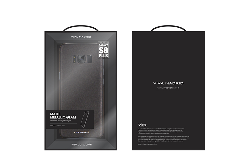 Viva Madrid Viso Cover Samsung Galaxy S8 Plus - Svart