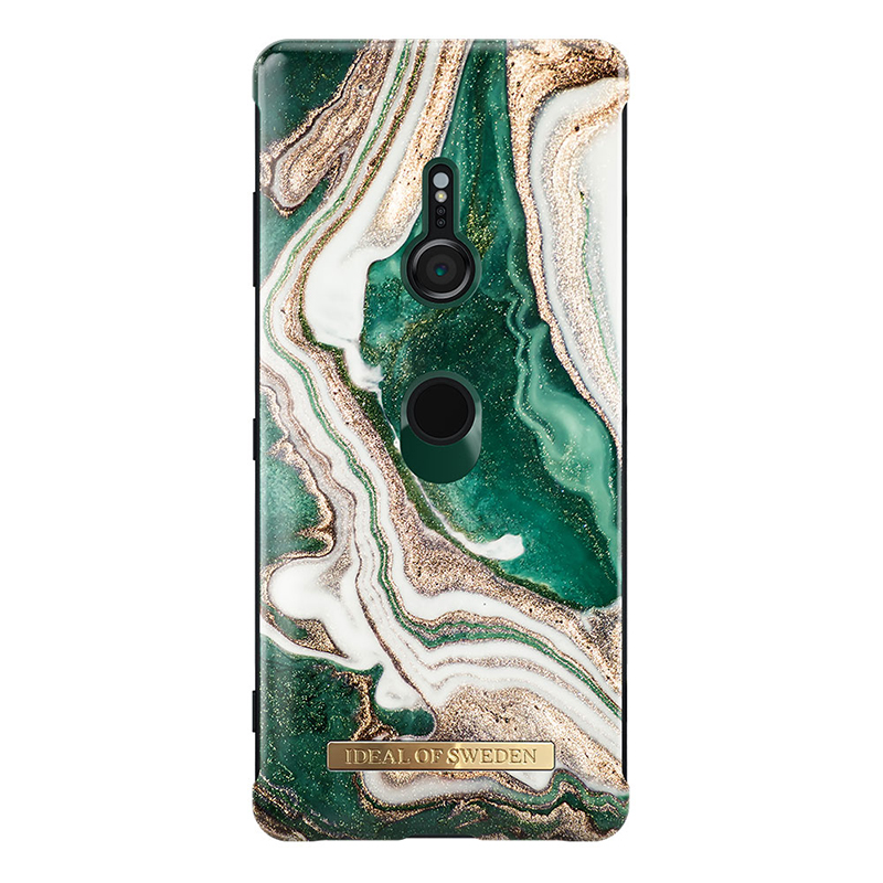 IDEAL FASHION CASE SONY XZ3 GOLDEN JADE MARBLE
