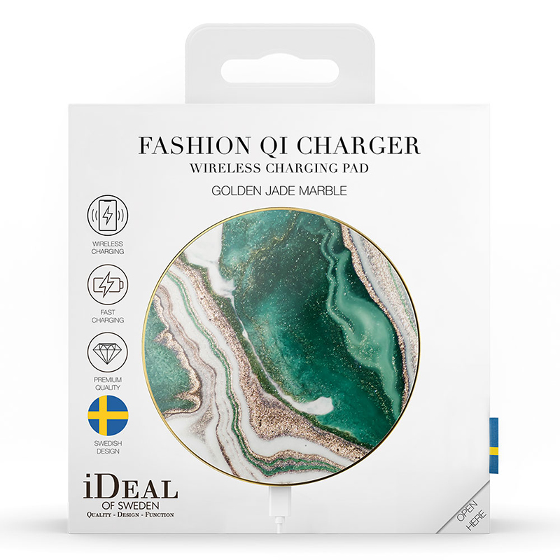 iDeal of Sweden Wireless Charger Golden Jade Marble