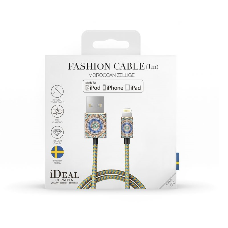 iDeal of Sweden Fashion Cable Lightning 1M - Moroccan Zellige
