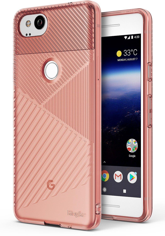 Ringke Bevel Skal till Google Pixel 2 - Rose Gold