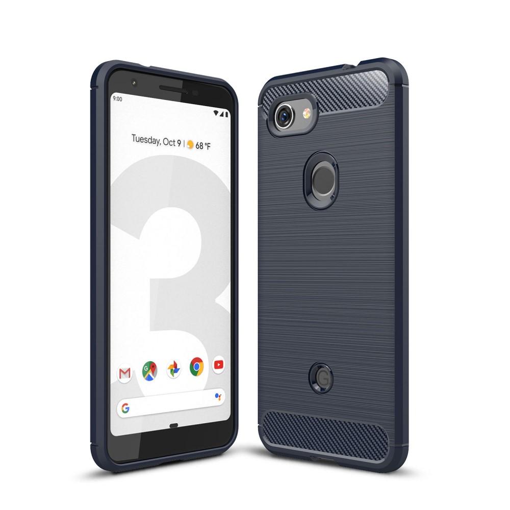 Carbon Fiber Brushed Skal till Google Pixel 3a XL - Blå