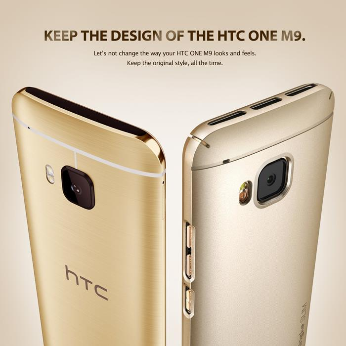 Ringke Slim Skal till HTC One M9 - Gold