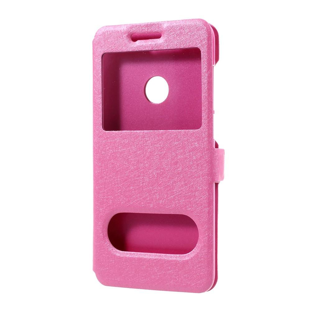 Dual View Mobilfodral till Huawei Honor 8 Lite - Rosa