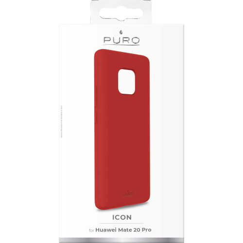 Puro Icon Cover till Huawei Mate 20 Pro - Röd