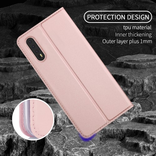 Auto-absorbed Plånboksfodral till Huawei P20 - Rose Gold