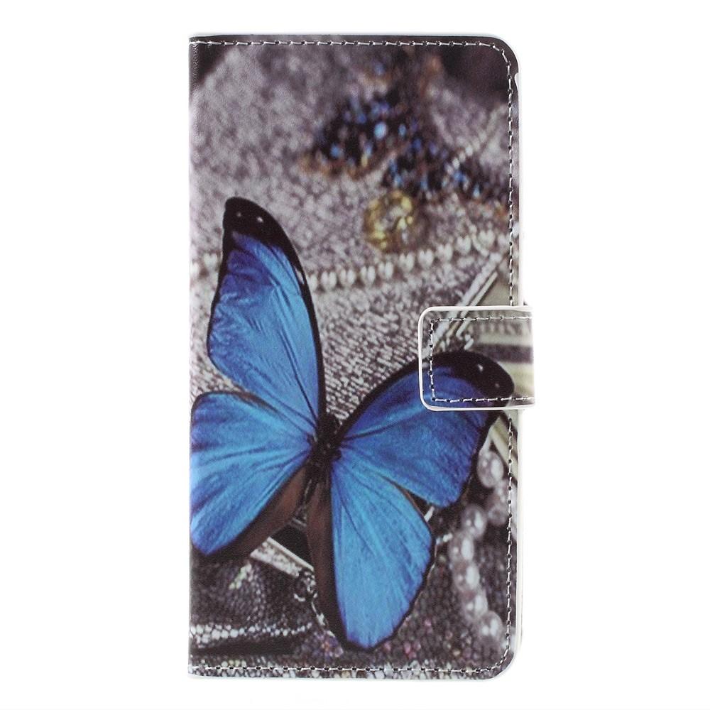 Plånboksfodral till LG G5 - Blå Fjäril