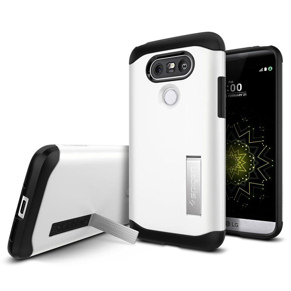 SPIGEN Slim Armor Skal till LG G5 - Vit