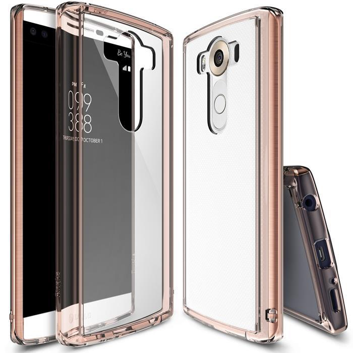 Ringke Fusion Shock Absorption Skal till LG V10 - Rose Gold