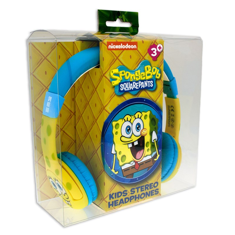 SVAMPBOB Hörlur Junior On-Ear Gul 85dB Spärr