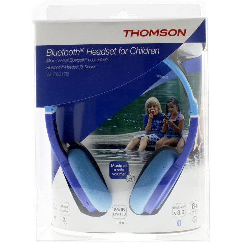 THOMSON Hörlur WHP6017P Trådlös Bluetooth On-Ear Barn - Blå