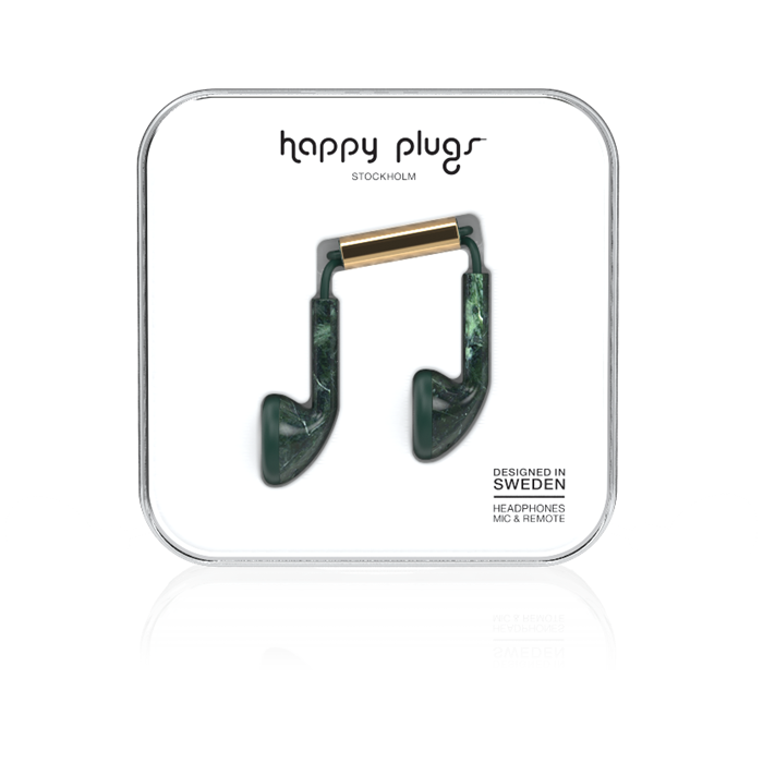 Happy Plugs Earbud - Green Marble