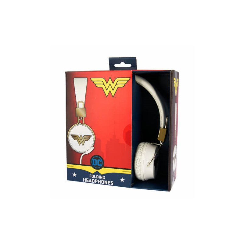Wonder Woman Hörlur Tween On-Ear - Vit/Guld