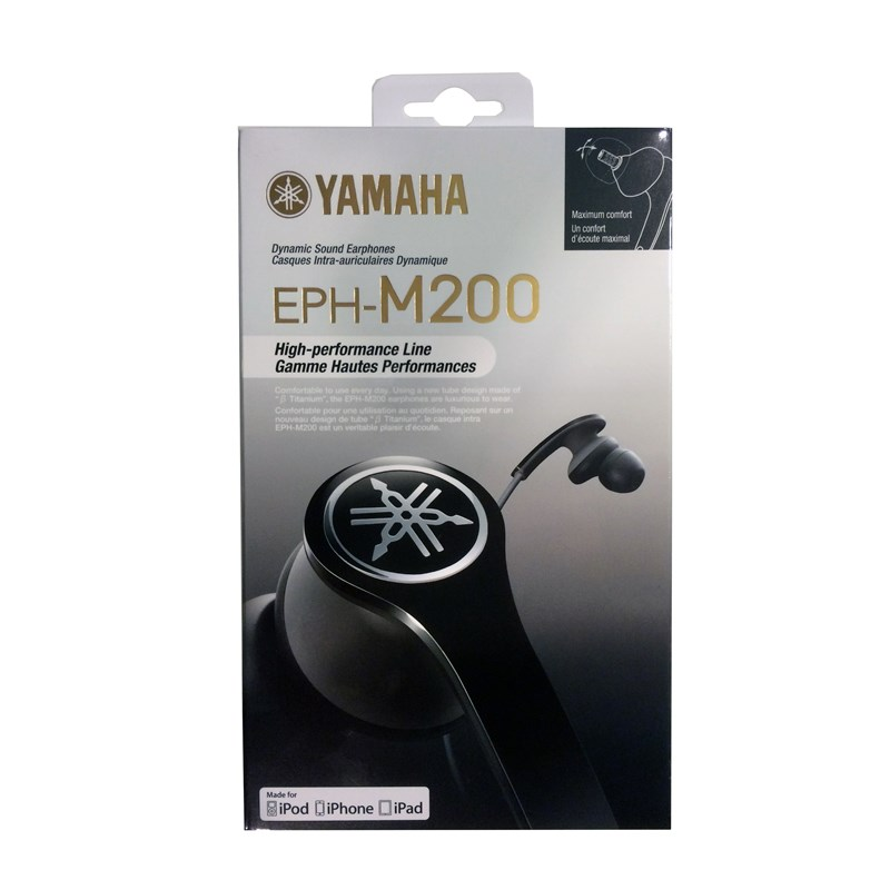 YAMAHA Hörlur EPH-M200 In-Ear Mic - Svart - TheMobileStore 46717037d0588