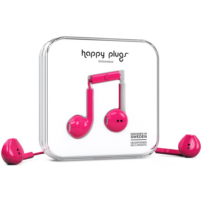 Happy Plugs Earbud Plus - Cerise