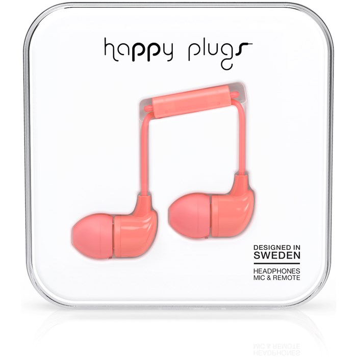 Happy Plugs In-Ear - Coral