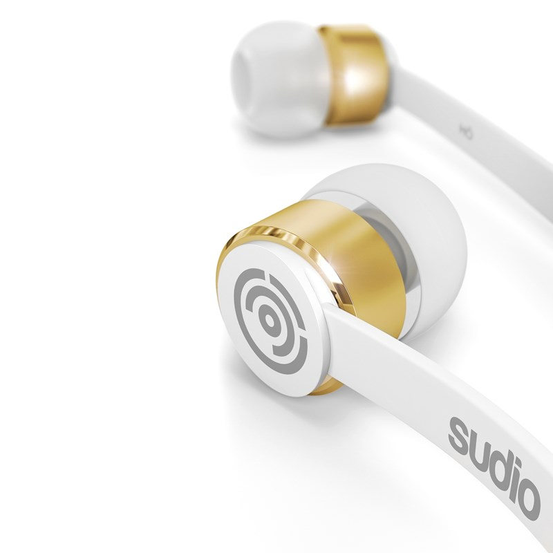 Sudio Hörlur KLANG In-Ear Mic - Vit