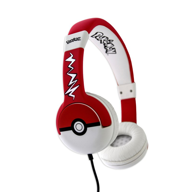 POKEBALL Hörlur Junior On-Ear 85dB Röd/Vit