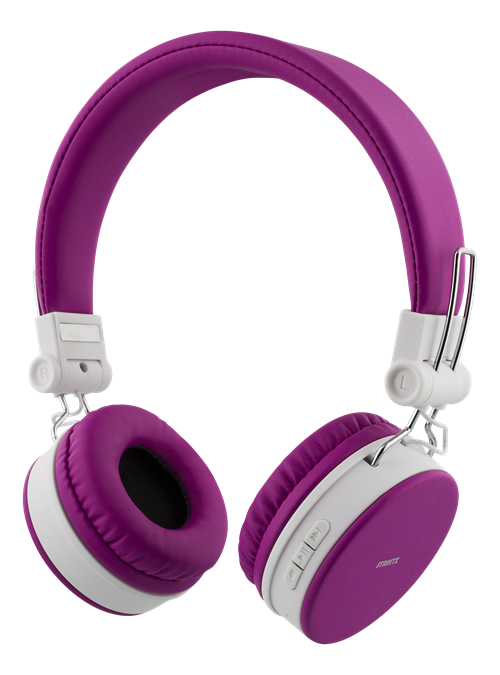 STREETZ Bluetooth-hörlurar med mikrofon, lila