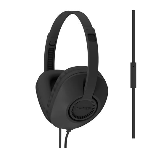 KOSS Hörlur Over-Ear UR23i One Touch Mic - Svart