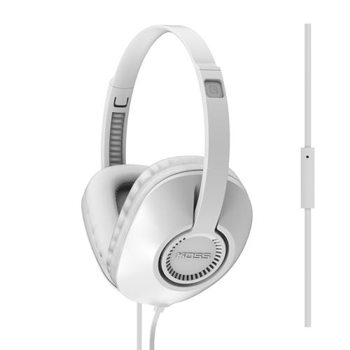 KOSS Hörlur Over-Ear UR23i One Touch Mic - Vit