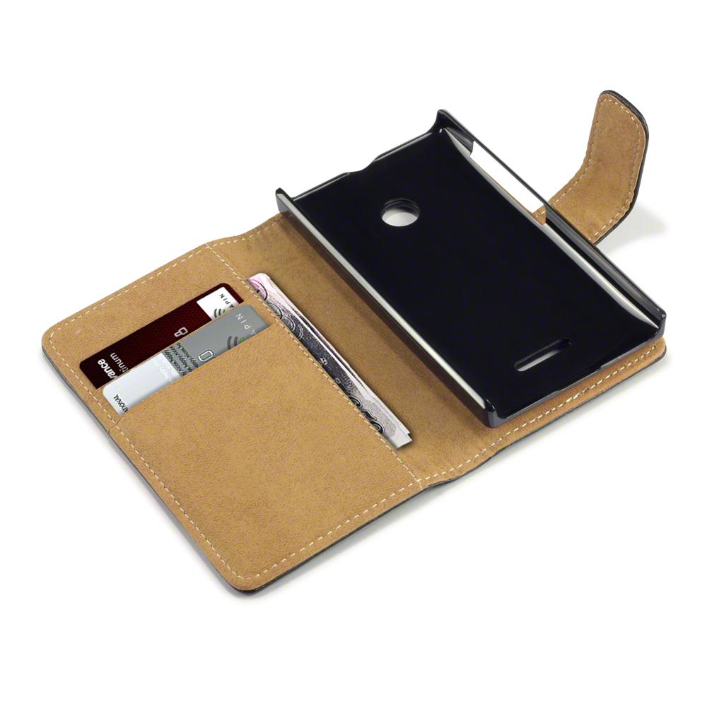 Plånboksfodral till Microsoft Lumia 435 - Svart/Brun