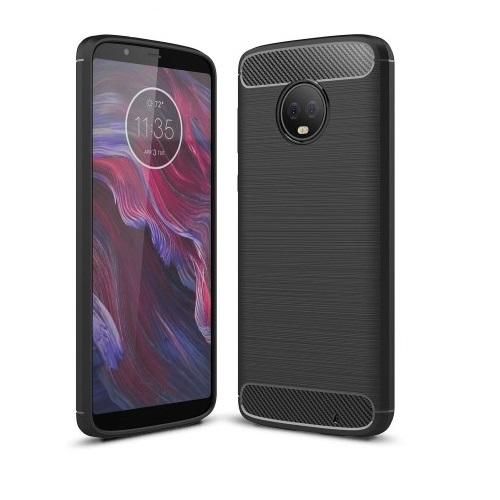 Carbon Brushed Mobilskal till Motorola Moto G6 Plus - Svart