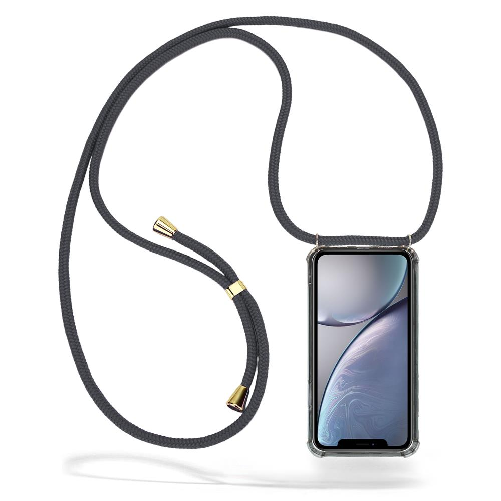 CoveredGear Necklace Case iPhone XR - Grey Cord