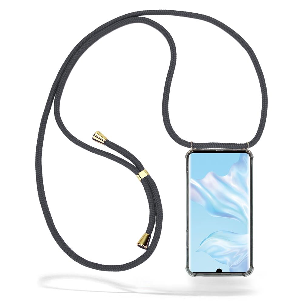 CoveredGear Necklace Case Huawei P30 Pro - Grey Cord