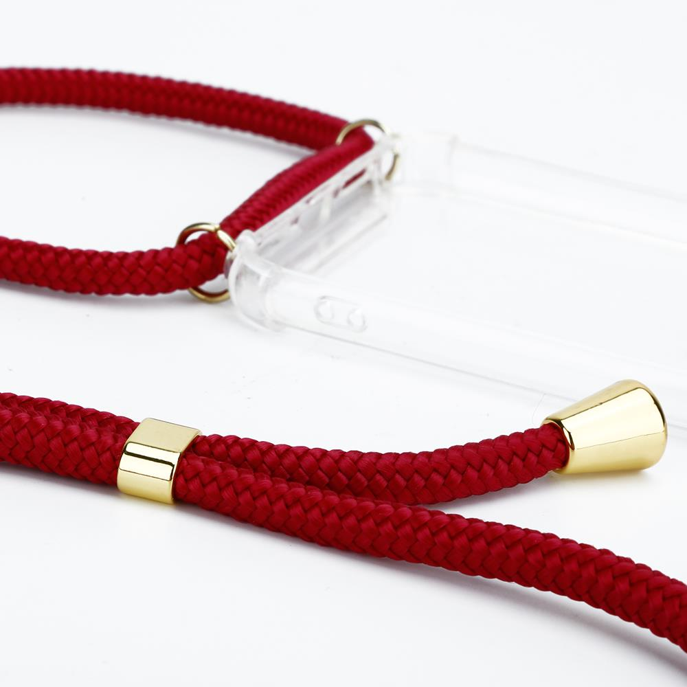 CoveredGear Necklace Case iPhone XR - Maroon Cord