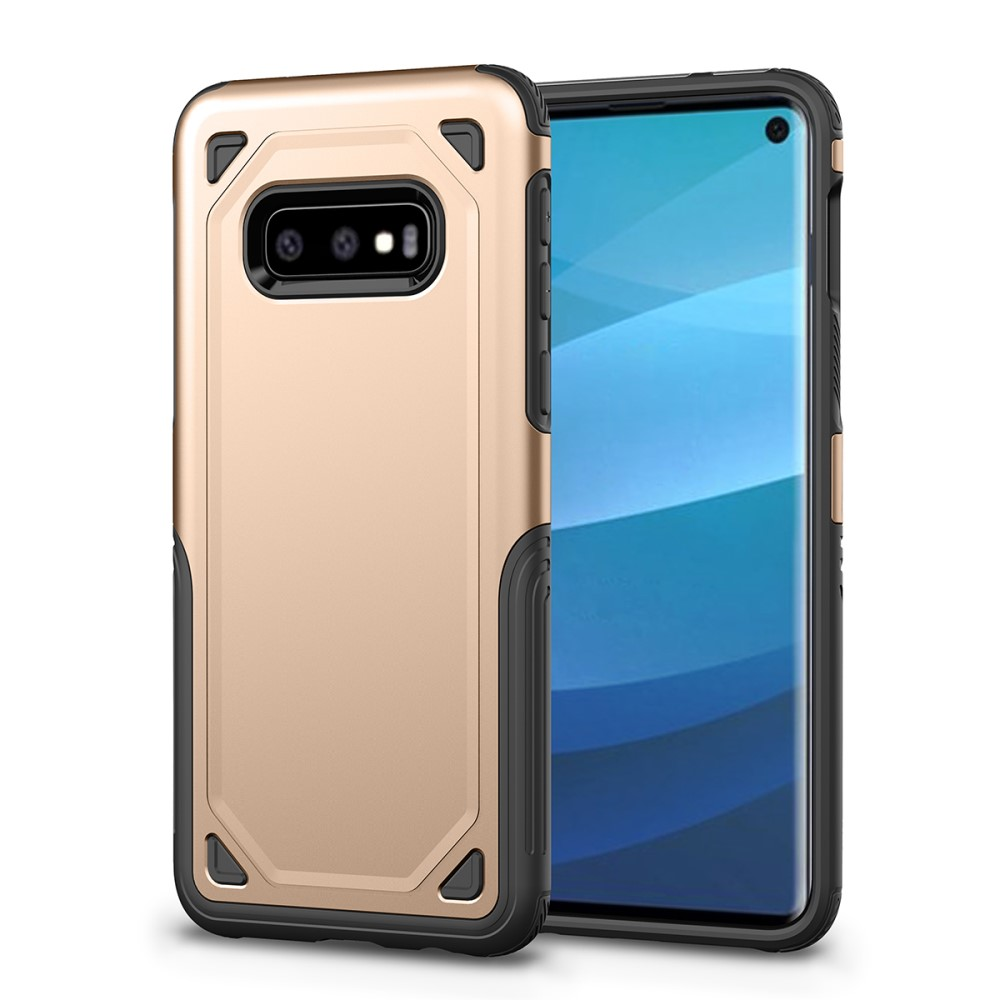 Rugged Armor Skal till Samsung Galaxy S10E Guld | Laddare |