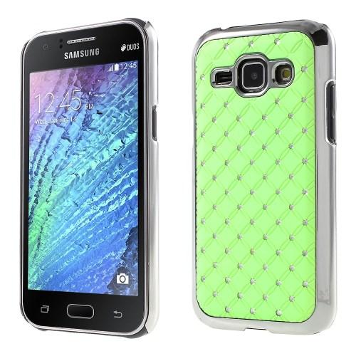 Diamante Skal till Samsung Galaxy J1 - Grön