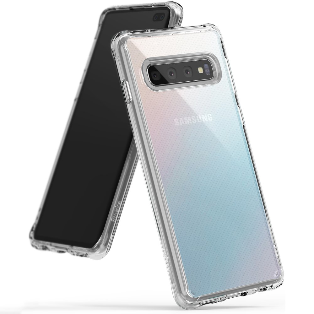 Ringke Fusion Shock Absorption Skal till Samsung Galaxy S10 Plus - Clear
