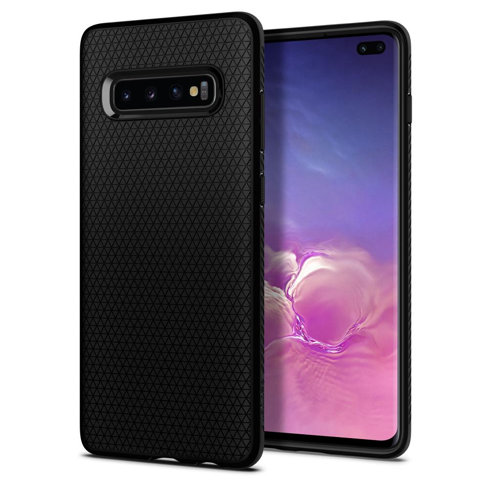 SPIGEN Liquid Air Skal till Samsung Galaxy S10 Plus - Svart