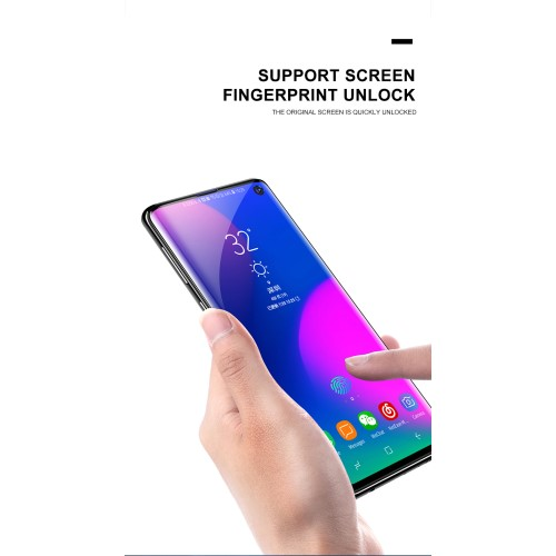 MOCOLO [Support Ultrasonic Fingerprint] Skärmskydd Samsung Galaxy S10 Plus