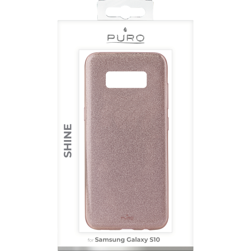 Puro Shine Cover till Samsung Galaxy S10 - Rosaguld