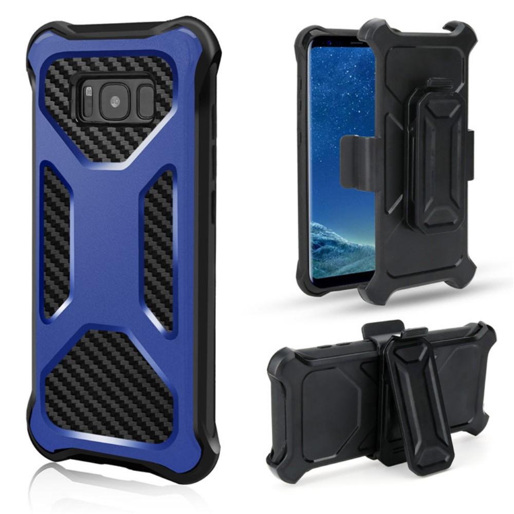 2-in-1 mobilskal med bältesfodral till Galaxy S8 - Blå