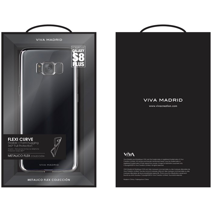 Viva Madrid Metalico Flex Case Samsung Galaxy S8 Plus - Svart