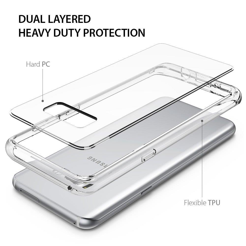 Ringke Fusion Shock Absorption Skal till Samsung Galaxy S8 - Clear