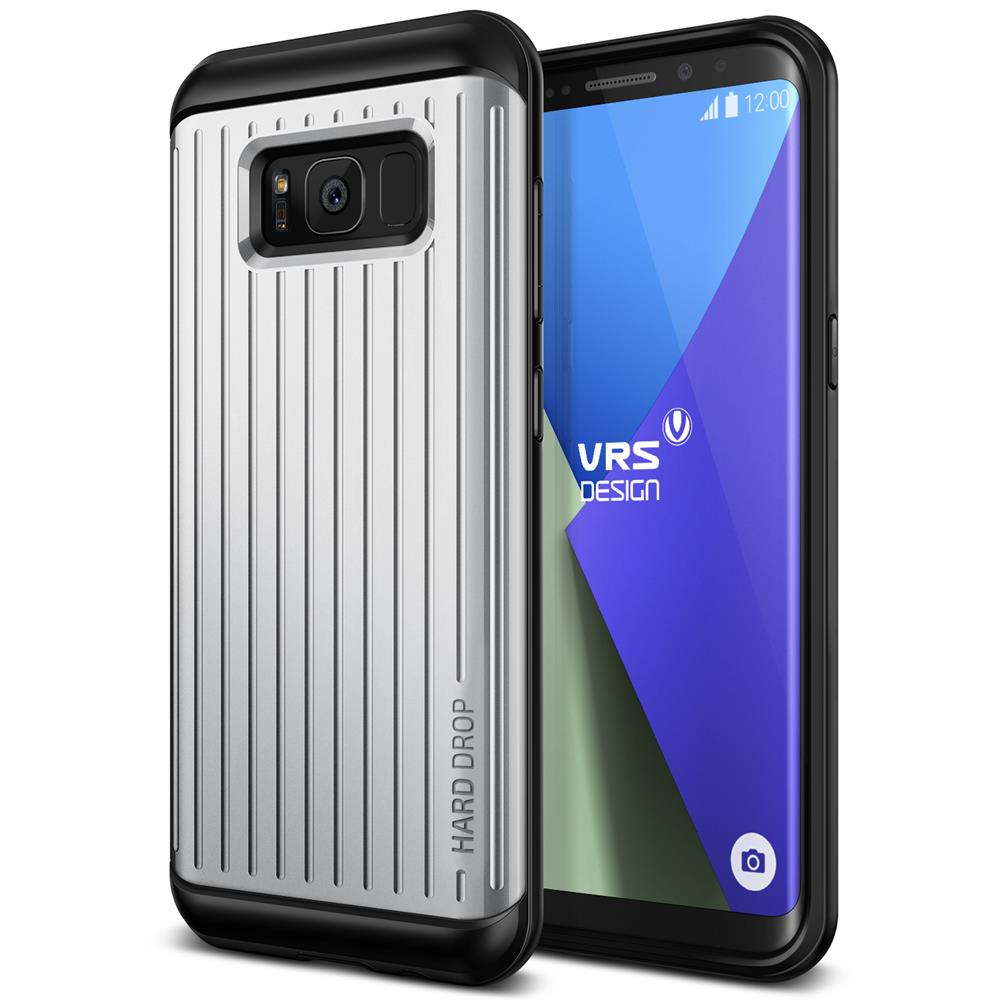 Verus Waved Hard Drop Skal till Samsung Galaxy S8 - Silver