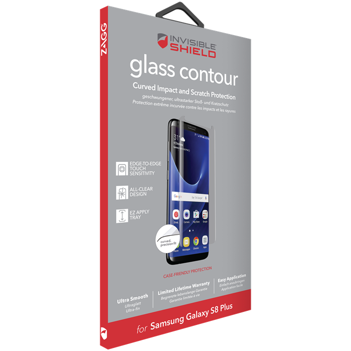 Zagg InvisibleShield Glass Contour Screen Samsung Galaxy S8 Plus - Clear