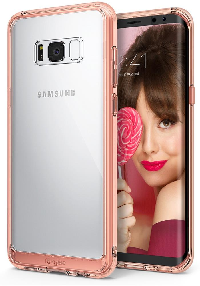 Ringke Fusion Shock Absorption Skal till Samsung Galaxy S8 Plus - Rose Gold 5c53a22fa7636